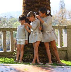 Vistiendo a tres.: Celebraciones... Sewing Kids Clothes, Sewing For Kids, Cute Kids, Cute Babies, Kids Boys, Baby Kids, Kids Fashion Boy, Boy Hairstyles, My Little Girl