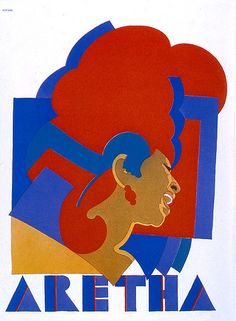 Aretha  Milton Glaser poster  1966