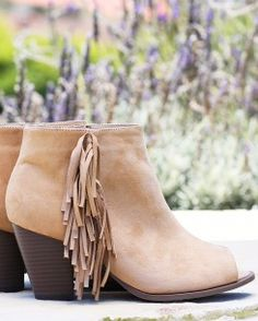 Fairweather Fringe Booties  at Charming Charlie in Market Street - The Woodlands
