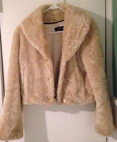 Hurry Ending Soon! FREE SHIPPING Ladies VENUS Small Ivory Faux Fur Stylish Jacket $29.99@Ebay