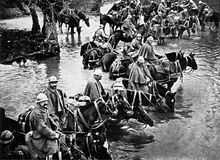 East France, Battle of Verdun, in Lorraine, February 1916 - Cavalry reserves of the French army cross a river during the approach to Verdun. Wilhelm Ii, Kaiser Wilhelm, Ww1 History, Military History, World War One, First World, Bataille De Verdun, Belle France, History Online
