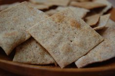 Homemade Rosemary Spelt Crackers   3 1/2 cups of spelt flour  1/4 cup of melted coconut oil  1 cup of water with two tablespoons raw apple cider vinegar vinegar (or you could use 2 tablespoons of whey, lemon juice, yogurt, buttermilk, kefir)  1 teaspoon of sea salt (plus extra for the top)  1 teaspoon of baking soda  2 heaping teaspoons of dried rosemary, if desired