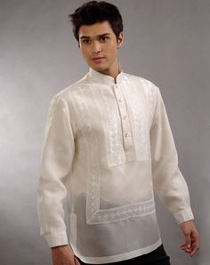 Filipino traditional Barong Tagalog and how to wear it Barong Tagalog Wedding, Barong Wedding, Groom Attire, Groom And Groomsmen, Brazilian Wedding, Filipino Culture, Filipiniana, American Wedding, Traditional Dresses