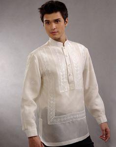 Filipino traditional Barong Tagalog and how to wear it Barong Tagalog Wedding, Barong Wedding, Groom Attire, Groom And Groomsmen, Graduation Attire, Brazilian Wedding, Filipino Wedding, Filipino Culture, Filipiniana