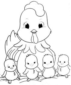 Art Drawings For Kids, Drawing For Kids, Animal Drawings, Cute Drawings, Cute Coloring Pages, Animal Coloring Pages, Coloring Books, Embroidery Patterns, Hand Embroidery