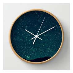 Desert Stars Wall Clock ($30) ❤ liked on Polyvore featuring home, home decor, clocks, decor, wall clocks, round clock, battery operated wall clock, round wall clock, battery powered wall clock and star home decor