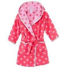 Petit Bateau Star-printed bathrobe Pink - 27803 | Melijoe.com