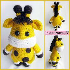 Cute Crochet Baby Giraffe - Free Pattern #freecrochetpattern #giraaffe #giftidea