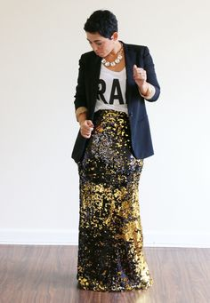 Mimi G DIY Sequin Maxi Skirt TUTORIAL!!! I need to learn to sew!!!!