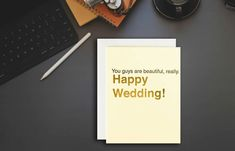 That couple, together, at last (I'm not crying you are!). This card is great for all those weddings you have to go to this year. Funny Wedding Cards, Wedding Humor, Sympathy Cards, Greeting Cards, Happy Wedding Day, Minimal Wedding, Geometric Wedding, Watercolor Wedding Invitations, Letterpress Printing