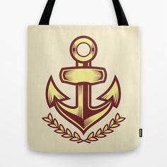 Anchor badge Tote Bag by Sharp B.A