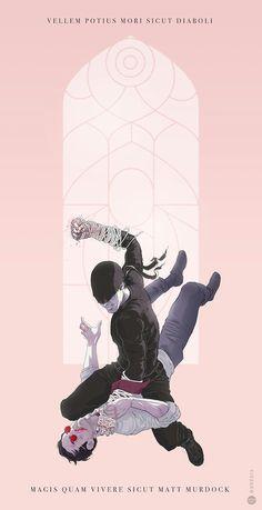 ArtStation - The Devil vs Matt Murdock, André Greppi Marvel Comic Universe, Comics Universe, Marvel Cinematic Universe, Marvel Heroes, Marvel Dc, Daredevil Punisher, Spiderman, Arte Horror, Comic Art