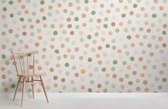 Add a playful feel to your space with this stylish Neutral Tone Watercolour Polka Dot Wallpaper Mural, a versatile mural with fast and FREE UK delivery! Polka Dot Nursery, Polka Dot Walls, Polka Dots, Spotty Wallpaper, Pattern Wallpaper, Childrens Shop, World Map Wallpaper, Neutral Tones, Paint Designs