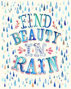 ☆ FIND BEAUTY IN RAIN ☆     Sunshine… always follows the rain! Enjoy your day ♥ art by Kathy Daisy