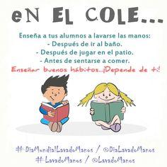 Enseñar el #LavadoManos en la escuela para crear el hábito de #salud e #higiene en los más pequeños.