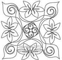 Digital Quilting Design Larkspur Spring Block 3 by Dawna Sanders.