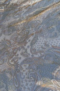 Soft blue, paisley pattern
