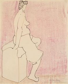 milton avery | Milton Avery (1885-1965) | Dream Girl | American Art Auction | 20th ...