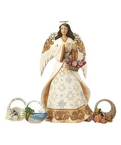 Another great find on #zulily! Heartwood Creek Seasonal Angel Figurine Set…