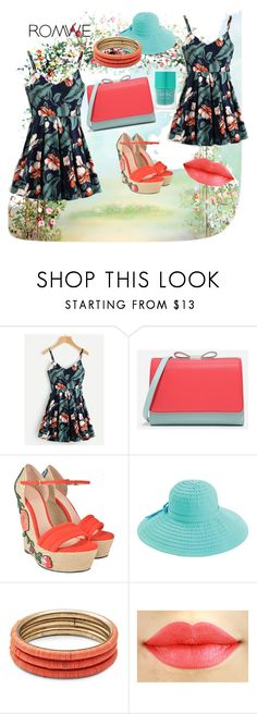 """Romwe"" by amraa-145 ❤ liked on Polyvore featuring CHARLES & KEITH, Gucci, San Diego Hat Co., Design Lab and Nails Inc."