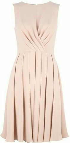 Valentino Sleeveless Dress - Lyst so classy. Love this bridesmaid style in another color. Dress Skirt, Dress Up, Nude Dress, Silk Dress, Prom Dress, Mode Style, Pretty Dresses, Beautiful Outfits, Gorgeous Dress
