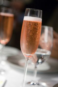 A glass of rose champagne...A Must for Heart day!!