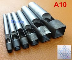 6 Pcs A10# Shaped Punches Stamps Leather Craft Tool Kit 5/7/8/10/15/20mm