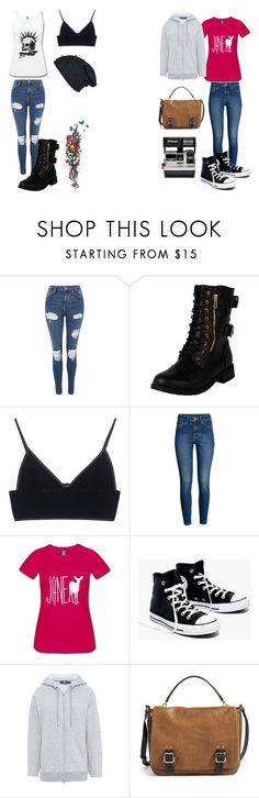 """""""My friend and I decided to be Chloe (me) and Max (my friend) from LiS for Halloween ♥ [Edit] Nvm lol ;-;"""" by pastelkittyxx ❤ liked on Polyvore featuring beauty, Topshop, T By Alexander Wang, H&M, Madewell, adidas, Vince Camuto and Polaroid"""
