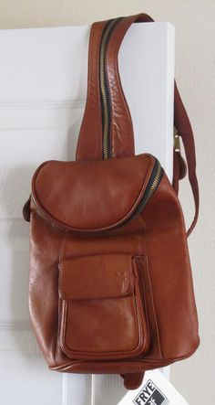 Frye Leather Bag Vintage Handbag Backpack Style By Ofestates 49 00