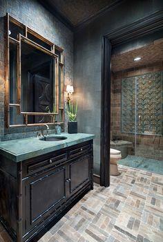 salle de bains attenante dans un style rustique et orientale - Salle De Bain Orientale