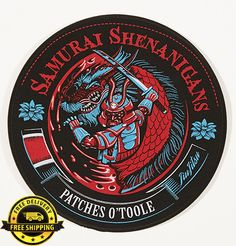 BJJ Samurai Patch | Patches O'Toole