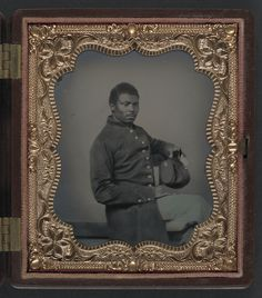 [Unidentified African American soldier in Union uniform] (LOC) by The Library of Congress, via Flickr