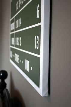 The Perfect Addition To A Game Room Or Any Boys Baseball Bedroom Is This DIY Scoreboard