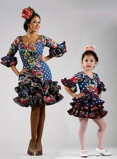 Trajes de Flamenca Niña Caña