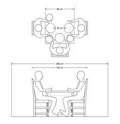 minimum width dining table - Google Search