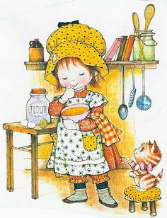 gifs et tubes sarah kay - Page 6 Holly Hobbie, Cute Images, Cute Pictures, Sara Kay, Hobby Horse, Cute Dolls, Cute Illustration, Vintage Pictures, Fabric Painting