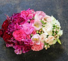 Ombre design - flowers in gradient order