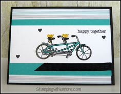 Stampin'Up Card created using the New Sale-a-bration item, Pedal Pusher,Free with a $50.00 purchase. http://www.stampingwithamore.com