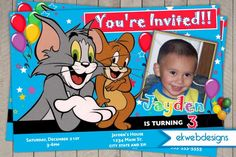 Printable Tom And Jerry Birthday Cards