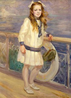 Girl In A Sailor Suit,Charles Sims (1873 – 1928, English)