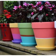 Painted Pots, to do now in anticipation of summertime