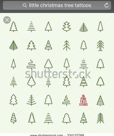 Illustration of Thin Line Pine Tree Icon Set - A collection of 35 christmas tree line icon designs on light background vector art, clipart and stock vectors. Christmas Tree Background, Little Christmas Trees, Christmas Tree Logo, Christmas Ideas, Icon Set, Icon Design, Design Design, Flat Design, Design Layouts