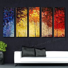 http://www.aliexpress.com/item/High-Quality-Hand-Painted-Large-Abstract-Oil-Paintings-5-Pieces-On-Canvas-Wall-Art-Colourful-Trees/1734479190.html