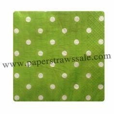 Green Paper Napkins White Polka Dot http://www.paperstrawssale.com/green-paper-napkins-white-polka-dot-300pcs-p-780.html