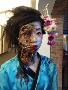 Incredible Special Effects makeup by Blanche Macdonald Global Makeup student.