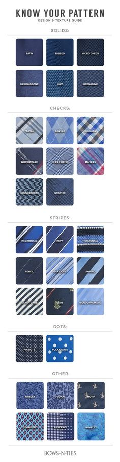 The Complete Guide To Tie Patterns. Learn everything you need to know!