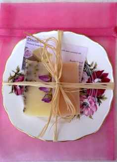 Natural Soap & China Side Plate