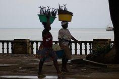 Fishwives in Sao Tome, Principe