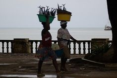Fishwives in Sao Tome, Principe