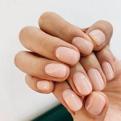Fancy Nails, Cute Nails, Pretty Nails, Hair And Nails, My Nails, Light Pink Nails, Gel Nail Light, Blush Pink Nails, Peach Nails